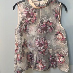 Anthropologie brand sleeveless blouse
